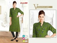 Green Printed Ladies Kurtis