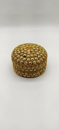 3 Inch Gold Multi Kumkum Box