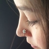 Shiny Look Artificial Nose Pin