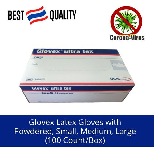 Full Finger Latex Gloves With Powdered