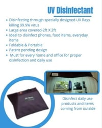 UV Rays Based Portable Disinfectant