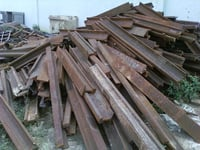 HMS 1, 2 Ferrous Steel Used Rail Scrap