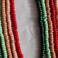 Multi Colour 6mm Round Bone Beads