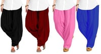 Cotton Plain Patiyala Salwar With Duppata