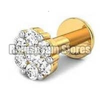 Polished Silver Color Nose Pin