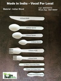 Export Quality Wooden Cutlery Set