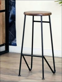 Iron Wood Bar Stool
