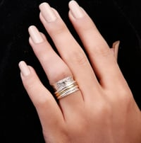 925 Solid Sterling Silver Ring With Spiner Bands New Design