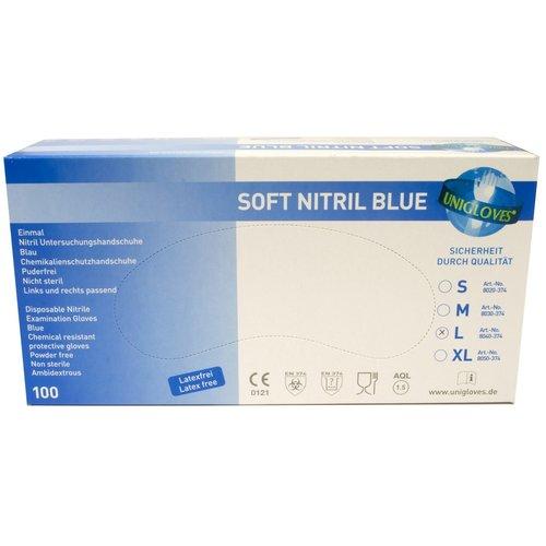 Disposable Blue Nitrile Examination Gloves