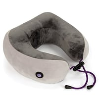 VIAGGI Vibrating Memory Foam Neck Massage Pillow