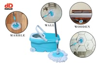 Spin Bucket Mop with 2 Refills