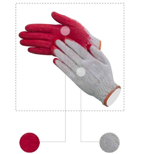 Latex Crinkle Coating Safety Work Gloves