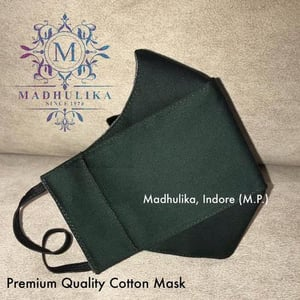 100% Pure Cotton with 3 Layer Protection Face Mask