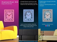 3D Wall Clock for Diwali Gifts