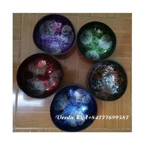 Lacquer Coconut Shell Bowl
