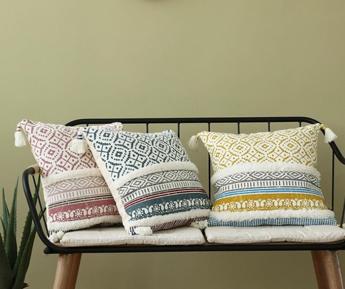 Cotton Knitted Vintage Cushion Cover