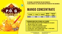 Mango Flavor Carbonated Soft Drink Concentrate