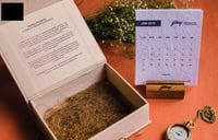 Plantable Seed Paper Calendar With Engraved Wooden Block