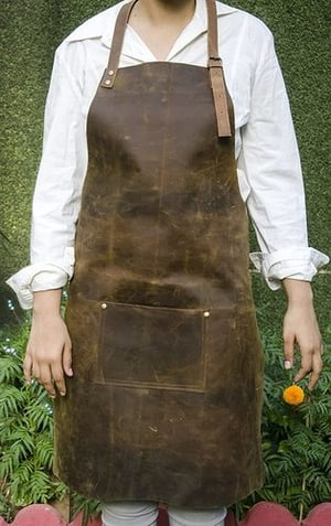 Leather Tool Apron With Pockets