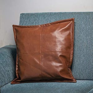 100% Pure Leather Pillow Covers