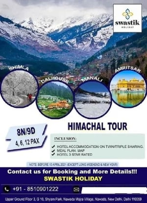 Manali Tour Packages Services (3 Night 4 Days)