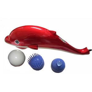 Red Vibrating Dolphin Massager