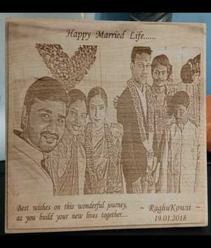 Engraved Wooden Photo Frames