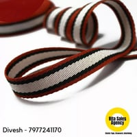 Printed Neck Tape for Garment in Cotton and Polyester