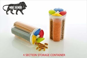 Food Storage Jar With 4 Sections