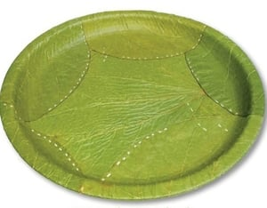 Disposable Green Siali Leaf Plate And Bowls