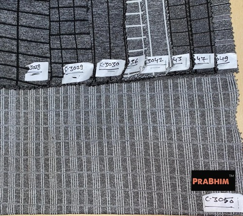 Top Grade Knitted Checks Fabric