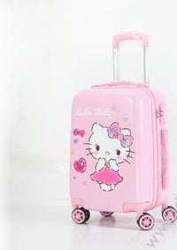 Pink Colored Designer Luggage Trolley