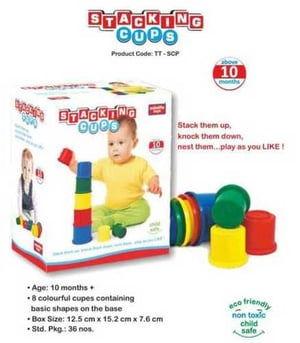 Stacking Cups Plastic Toys