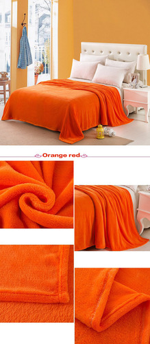 Hot Home Textile Warm Soft Solid Blanket
