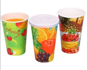 250ml Disposable Paper Juice Cup With Lid