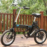 16 Inch Folding Electric Commuter Bicycle City Ebike With Removable Battery