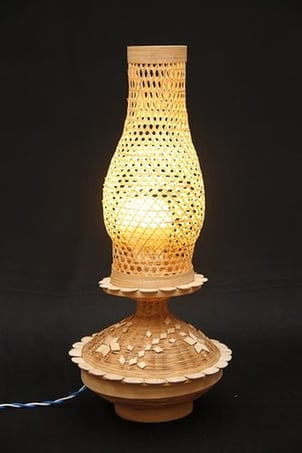 Bamboo Handcrafted Table Lamp