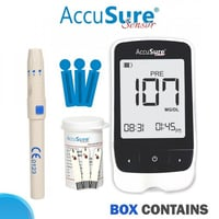 Accusure Simple MTR + 25 Test Blood Glucose Monitoring System
