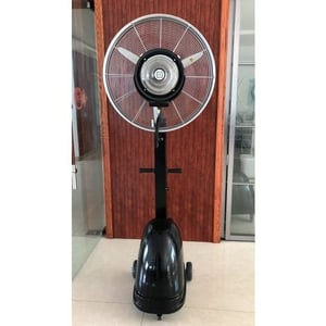 Black Stainless Steel Air Cooling Mist Fan