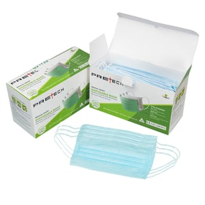 3 Ply Disposable Face Mask With Nose Pin And Meltblown Filter