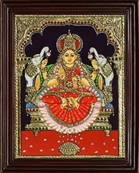 Tanjore Painting With Wood Frame