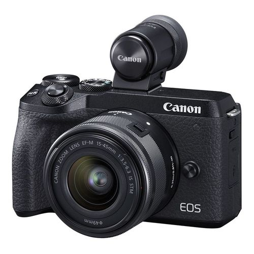 Brand New EOS M6 Mark II Plus 15-45 mm And EVF-DC2 Digital Camera (Canon)