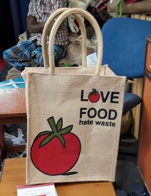 Printed Jute Grocery Shopping Bags