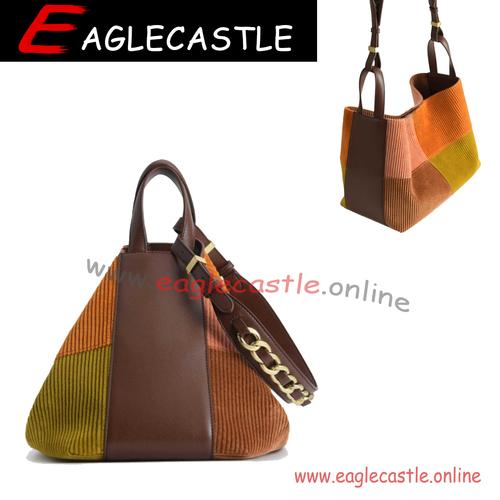 Zipper Decoration Tote Bag