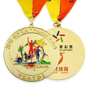 3D Gold Medals Cheap Marathon Medal Running Medal with Ribbon