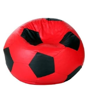Football Black And Red Bean Bags