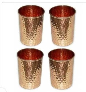 Copper Tumbler with Hammered Surface