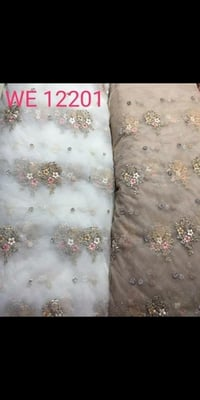 Embroidered Nets for Dupattas and Lehengas