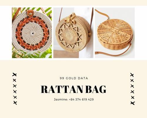 Handmade Natural Rattan Bags