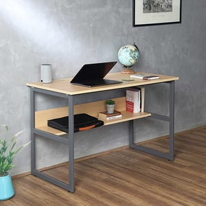 Wooden Small Desk With Storage